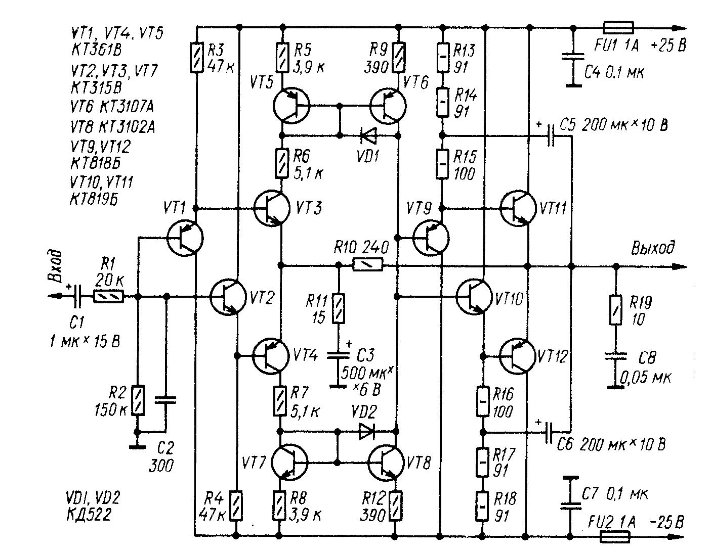 Circuitry headphone amps.