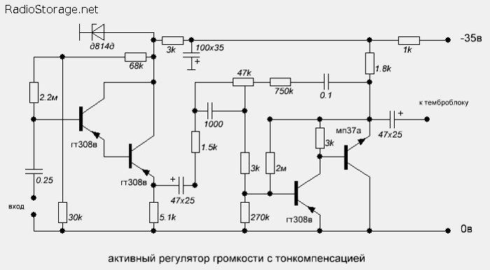 Схема активного регулятора