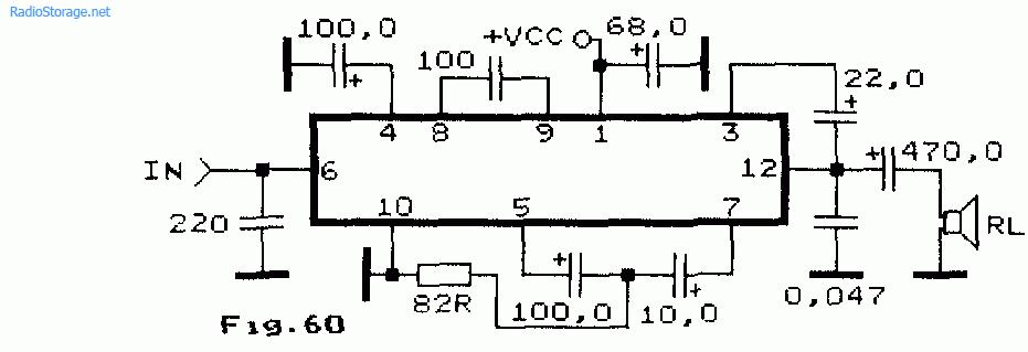 Схема УНЧ для телевизора или