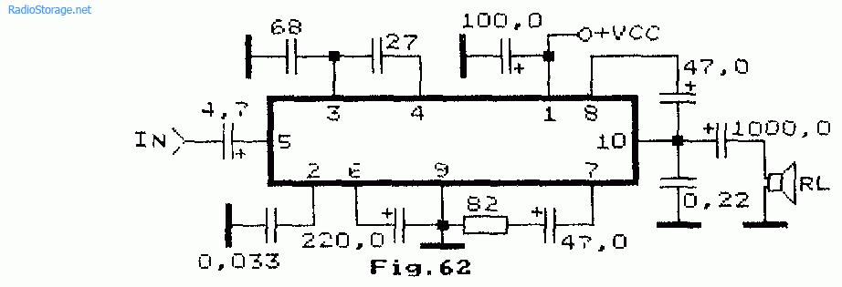 УНЧ на микросхемах серии