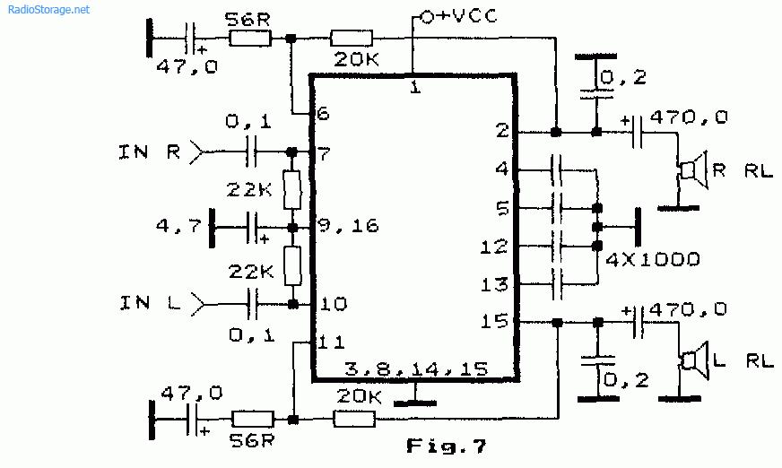 Двухканальный интегральный УНЧ