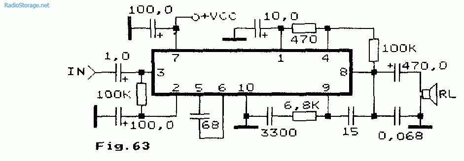 Схема простого одноканального