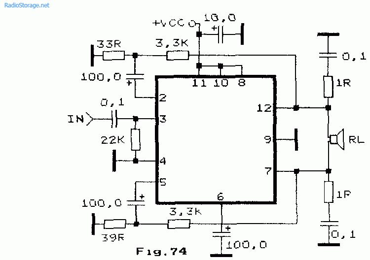 Схема простого мостового