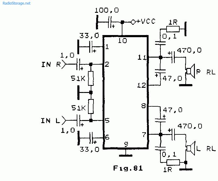 Двухканальный УНЧ на чипе