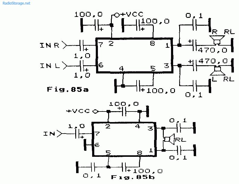 L2722, NJM2Q73, TDA2822M