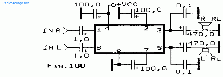 на микросхеме KD-28 (2Вт)