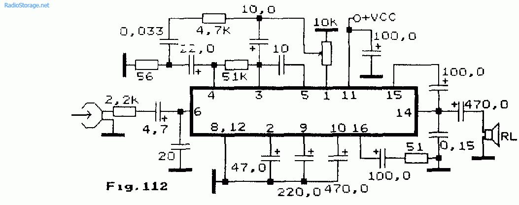 Схема: Усилитель воспроизведения на микросхеме LA4162 850мВт.