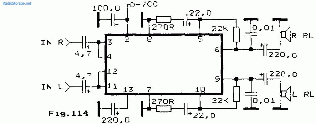 Маломощные двухканальные УНЧ