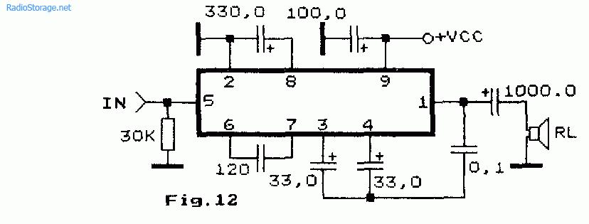 Схема усилителя НЧ на