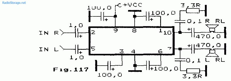 LA4261, LA4270 (2-6Вт)