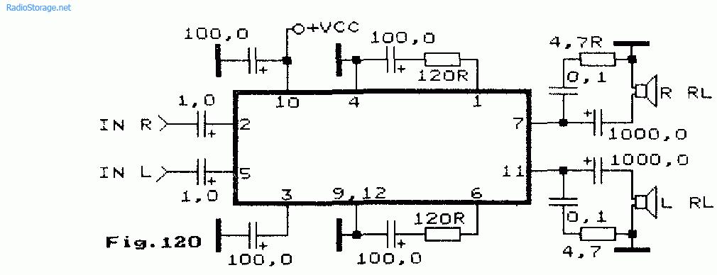 Схема усилителя sanyo