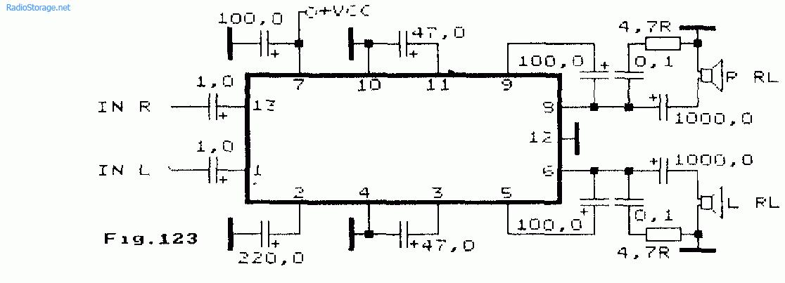 Двухканальный усилитель низкой