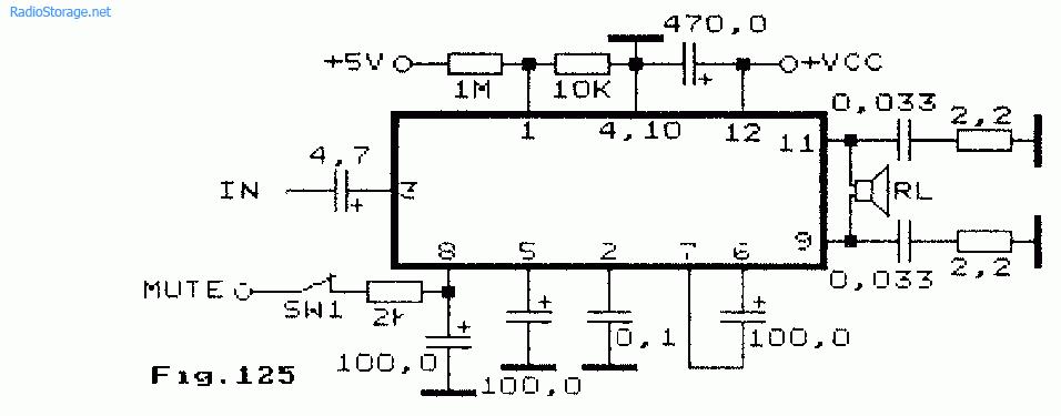 Схема мостового усилителя НЧ