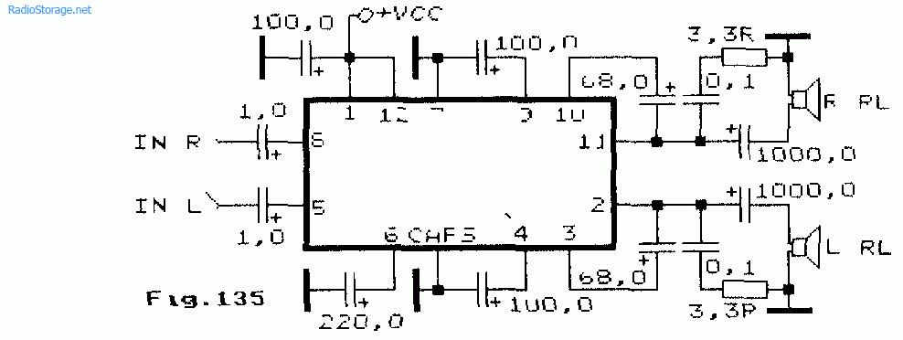 LA4557 (6-12В, 2Вт)