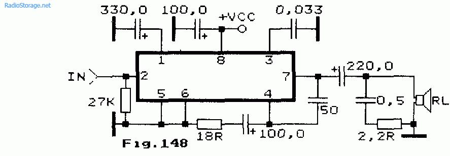 Маломощный УНЧ на чипе M5118L