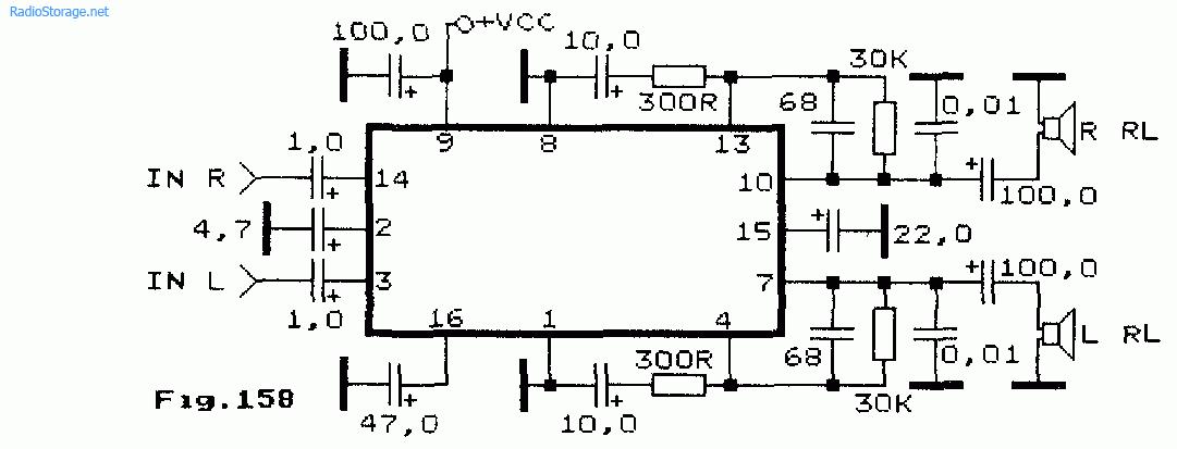 Схема микромощного УНЧ на
