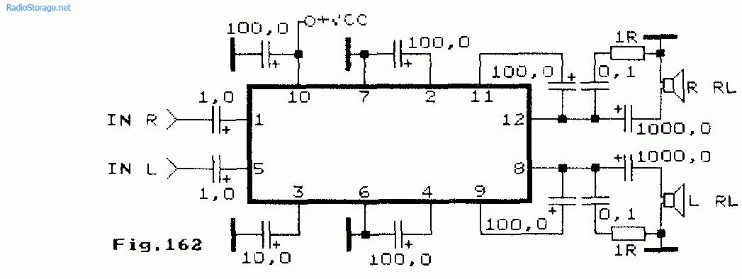 Схема стереоусилителя на