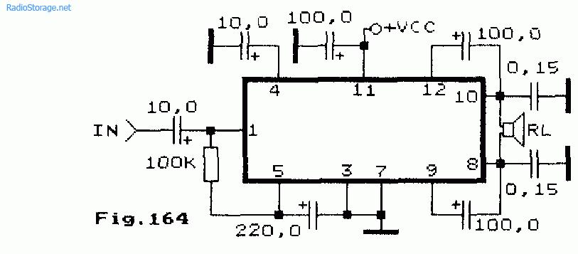Схема мостового одноканального