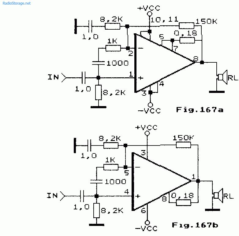 Схема: Схема мощного УМЗЧ на микросхемах серии OPA541 50Вт. принципиальная схема.