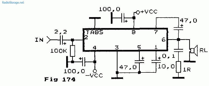 Схема простого УНЧ на