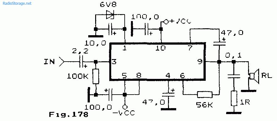 Схема усилителя НЧ на чипах