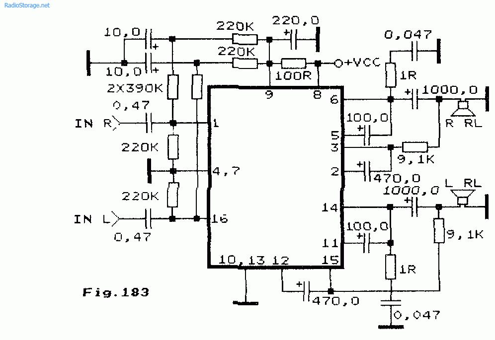 Схема: Интегральные УНЧ