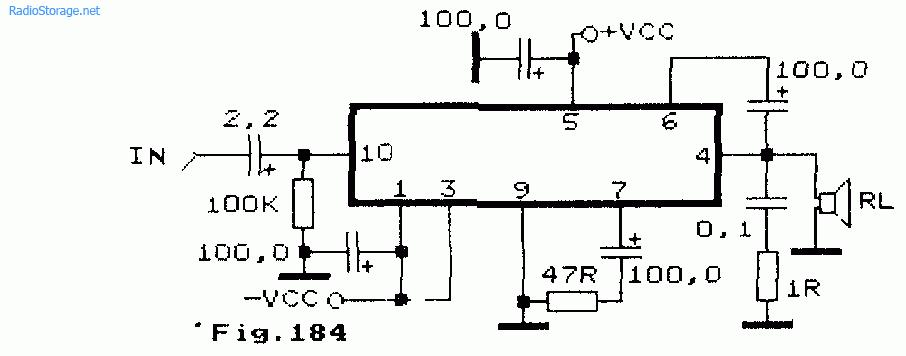 Схема: Одноканальный УНЧ на микросхеме STK020 STK027 10 15Вт 8Ом. принципиальная схема.