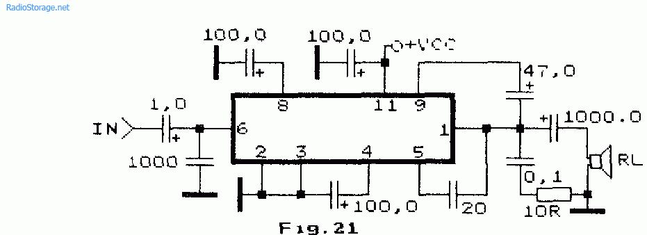 Схемы усилителей на AN7150,
