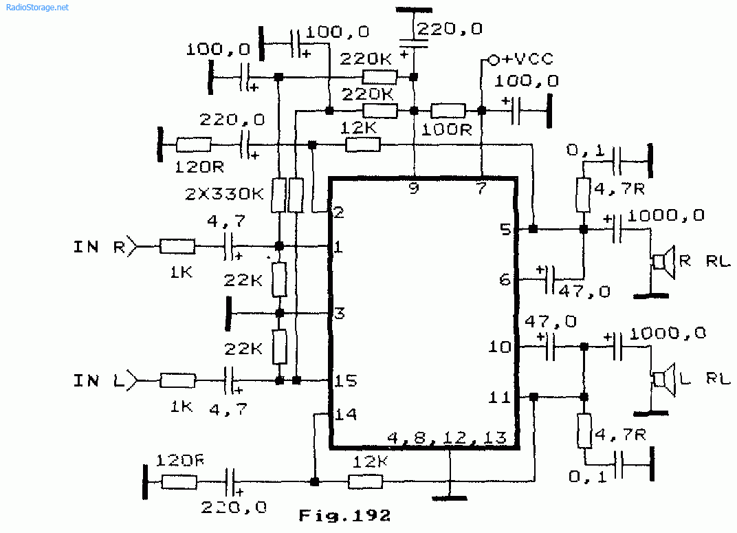 схема унч на мс stk435