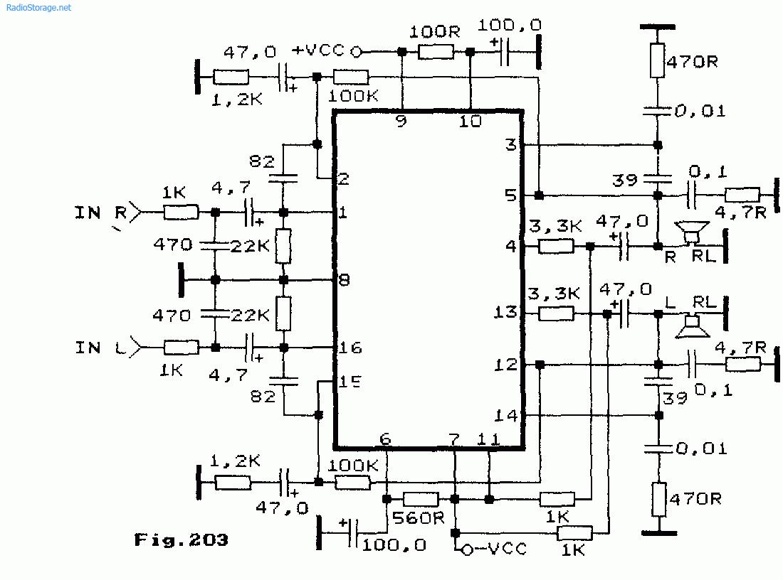 Схема: Схемы УНЧ на микросхемах серии STK47х STK48х STK4913. принципиальная схема.