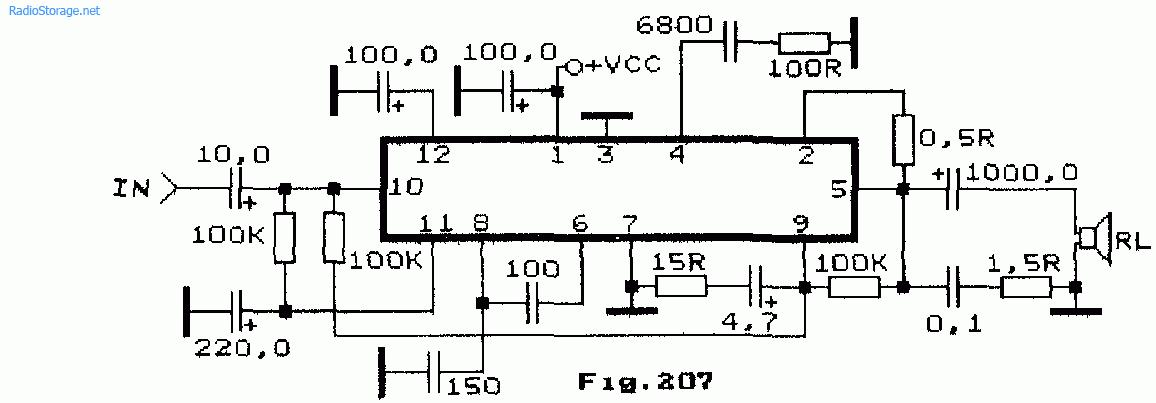 Схемы интегральных УНЧ на