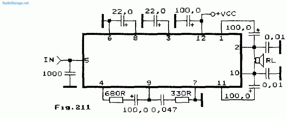 Схема мощного мостового УМЗЧ