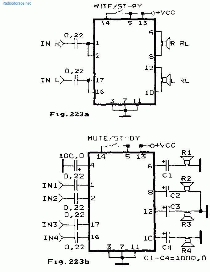 Схемы усилителей на TDA1554Q