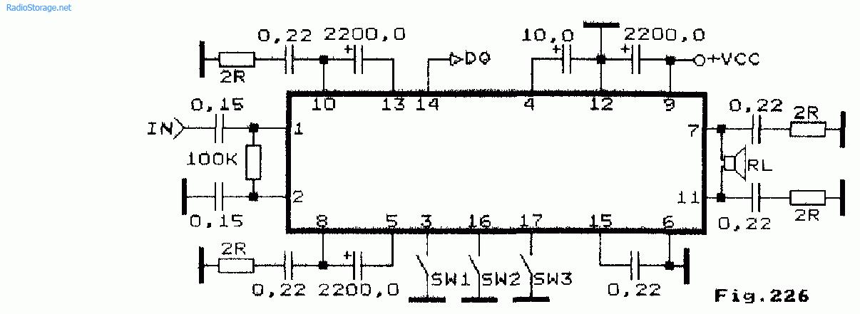 Схема мостового УНЧ на
