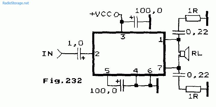 Схема: Схема мощного мостового УМЗЧ на микросхеме ТDА2025 12 40В 50Вт.