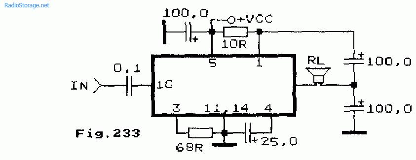 Схема одноканального УНЧ на