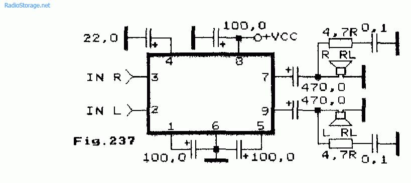 Схема простого двухканального
