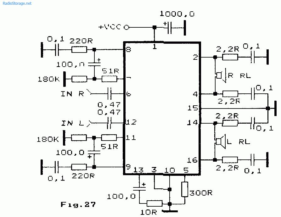 Двухканальный стереоусилитель