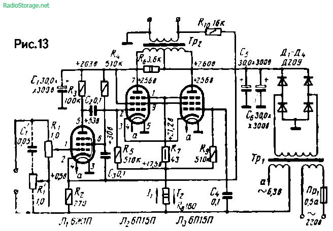 Схема усилителя на 6ж1п фото 158