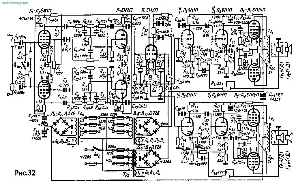 Схема усилителя на 6ж1п фото 257