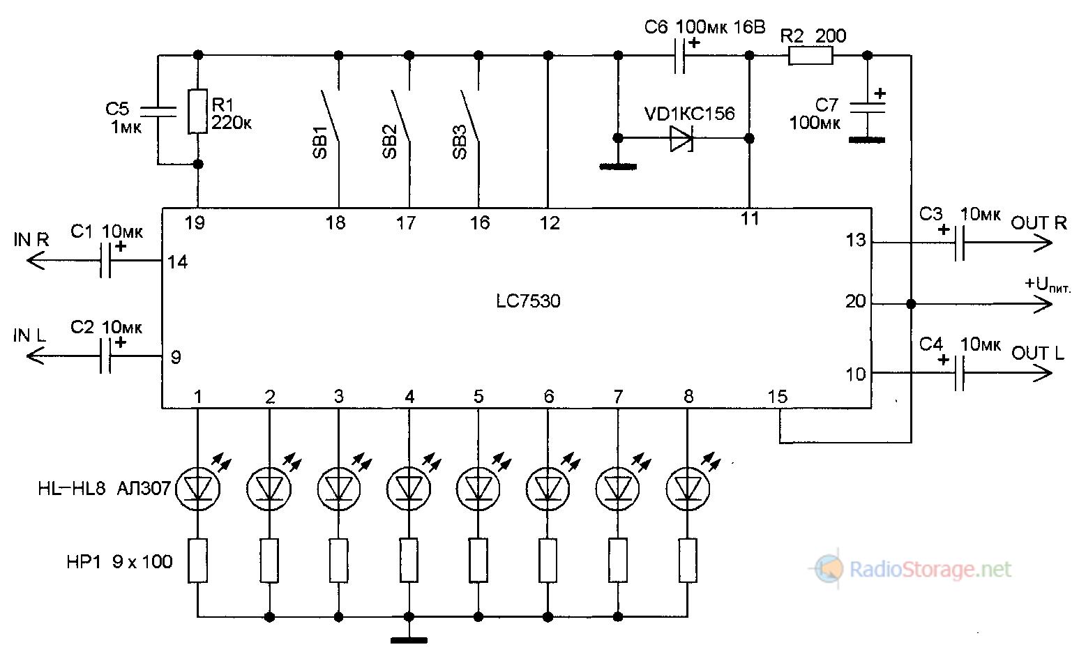 микросхема к561ие9а схема включения