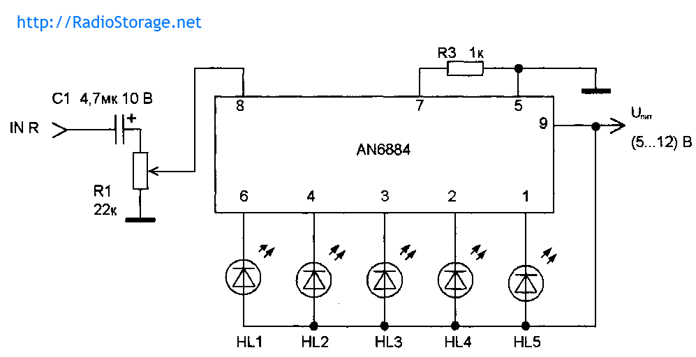 светодиодный индикатор на