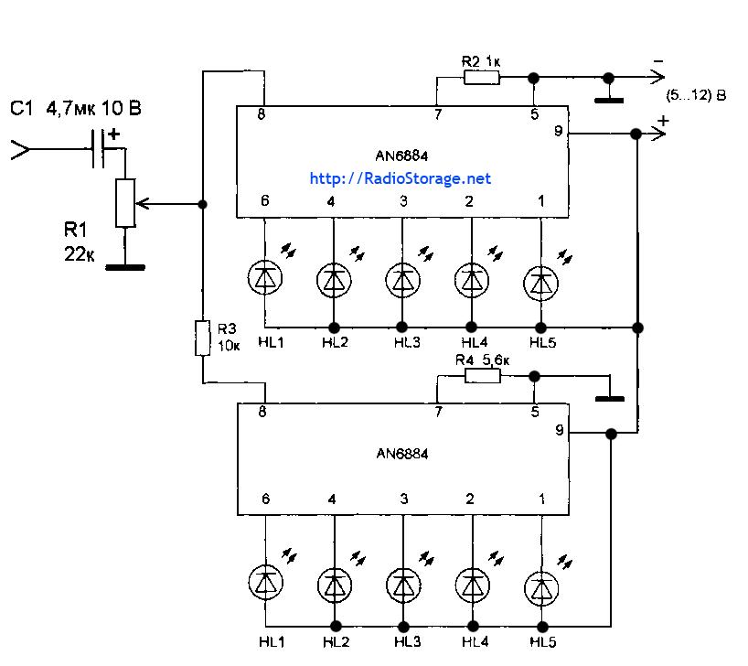 Схема включения микросхем для
