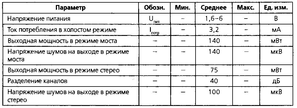 микросхеме TD7050 (2-6В,