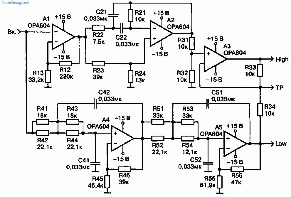 Схема фазолинейного активного