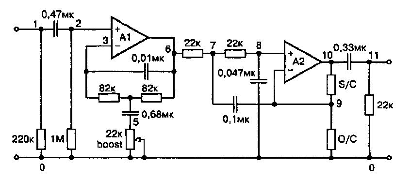 Схема разделительного фильтра