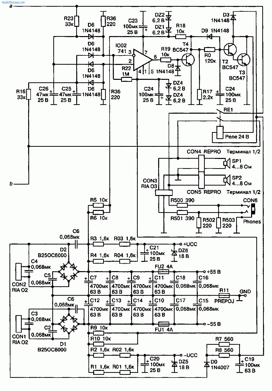 УМЗЧ Антона Космела выполнен на ИМС STK4048 XI фирмы Sanyo и вообще не требует подстроек (рис. 2.32).