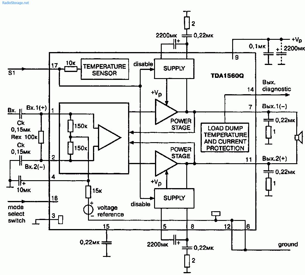 Типовая схема включения предельно проста (рис. 1.9).  Коэффициент усиления равен 30 дБ и задан внутренними...