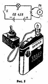 Итак, простейшая электрическая цепь (рис. -5). Ее можно составить из...