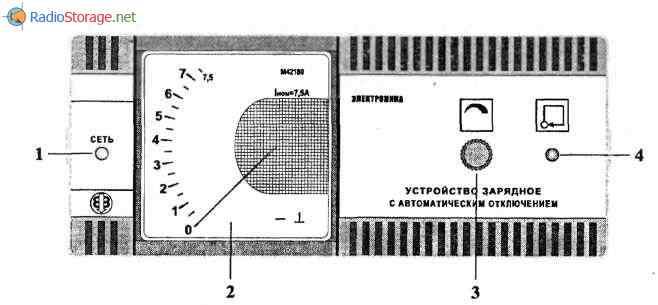 схема зарядного устройсва для автомобильного аккумулятора УЗ-П-12-6 3-УХЛ-3 1